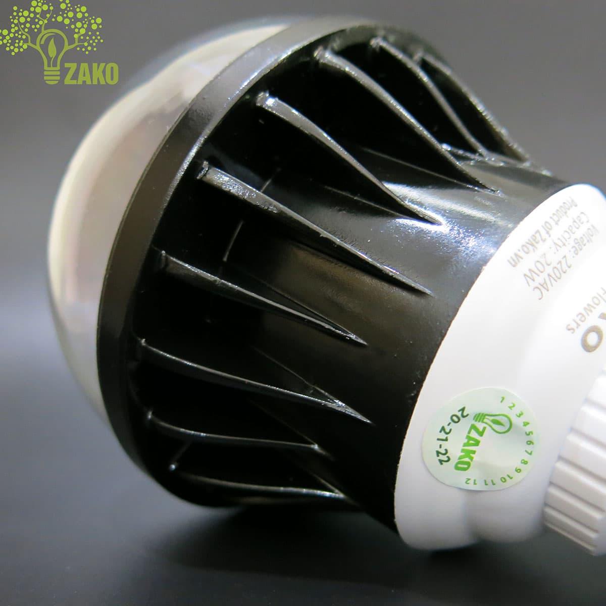 chụp đèn bulb 20w bằng nhựa trong pvc chống vỡ
