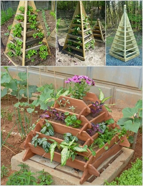 cách làm tháp trồng rau kim tự tháp