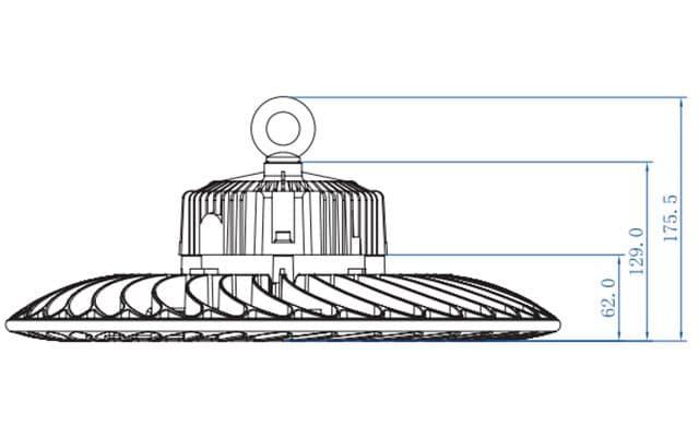 kích thước đèn ufo