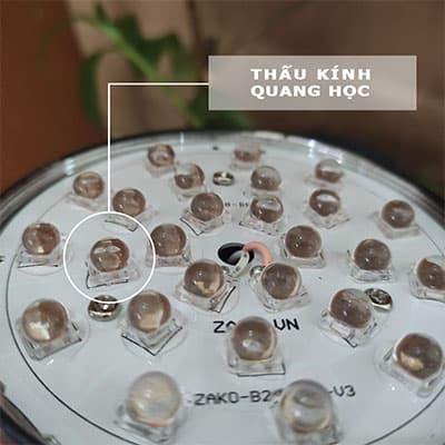 thấu kính quang học trong đèn led zako
